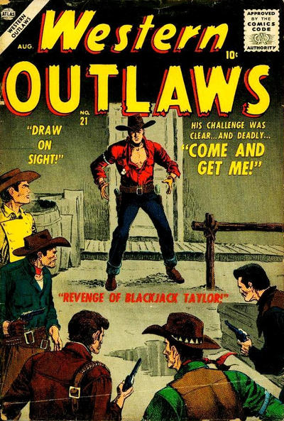 Cover for Western Outlaws (Marvel, 1954 series) #21