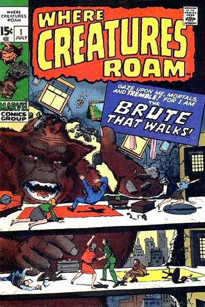 Cover for Where Creatures Roam (Marvel, 1970 series) #1