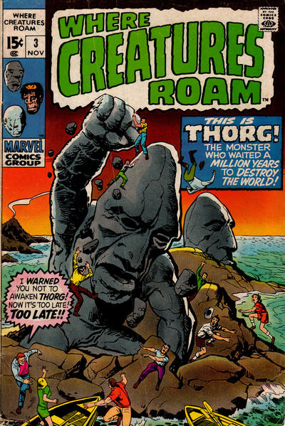 Cover for Where Creatures Roam (Marvel, 1970 series) #3