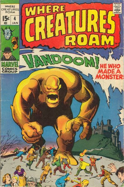 Cover for Where Creatures Roam (Marvel, 1970 series) #4