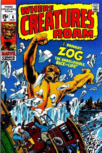 Cover for Where Creatures Roam (Marvel, 1970 series) #6