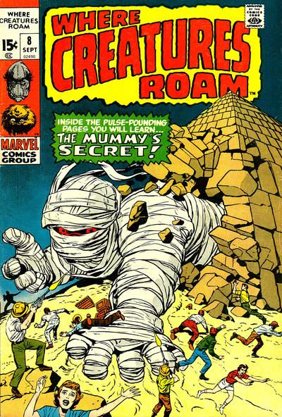 Cover for Where Creatures Roam (Marvel, 1970 series) #8
