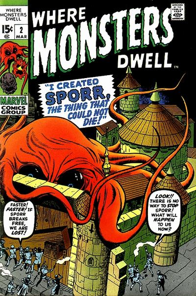 Cover for Where Monsters Dwell (Marvel, 1970 series) #2