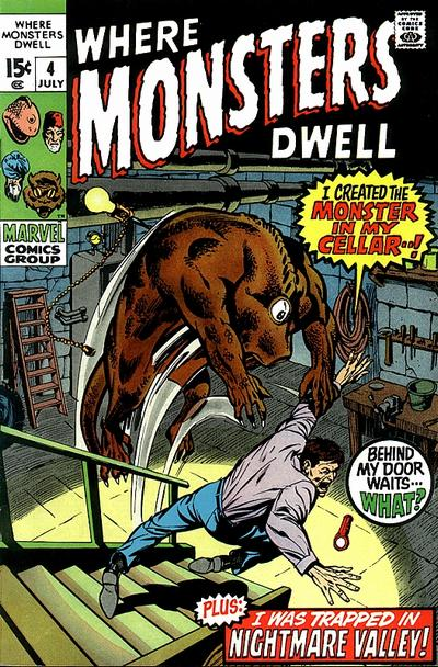 Cover for Where Monsters Dwell (Marvel, 1970 series) #4