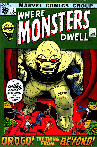 Cover for Where Monsters Dwell (Marvel, 1970 series) #12