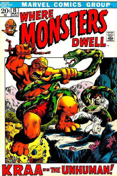 Cover for Where Monsters Dwell (Marvel, 1970 series) #15