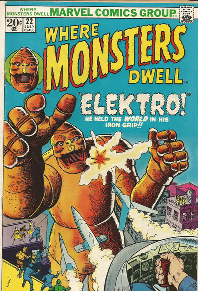 Cover for Where Monsters Dwell (Marvel, 1970 series) #22