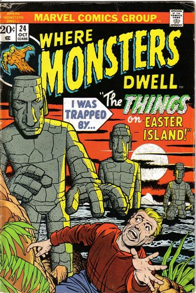 Cover for Where Monsters Dwell (Marvel, 1970 series) #24