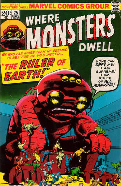 Cover for Where Monsters Dwell (Marvel, 1970 series) #25
