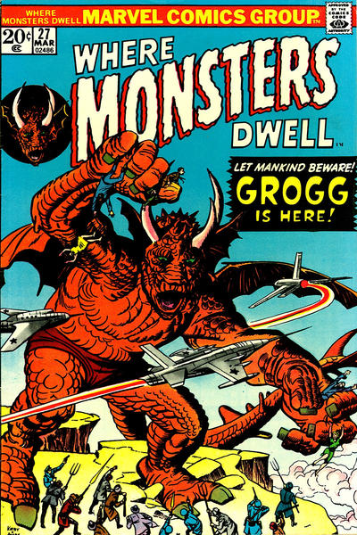 Cover for Where Monsters Dwell (Marvel, 1970 series) #27