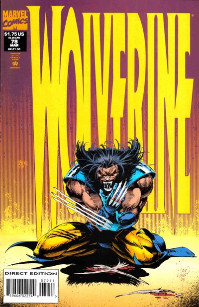 Cover for Wolverine (Marvel, 1988 series) #79 [Direct Edition]