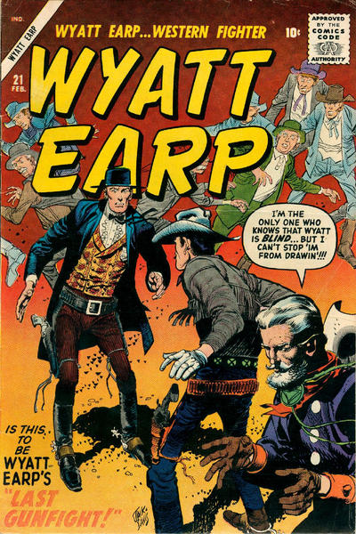 Cover for Wyatt Earp (Marvel, 1955 series) #21