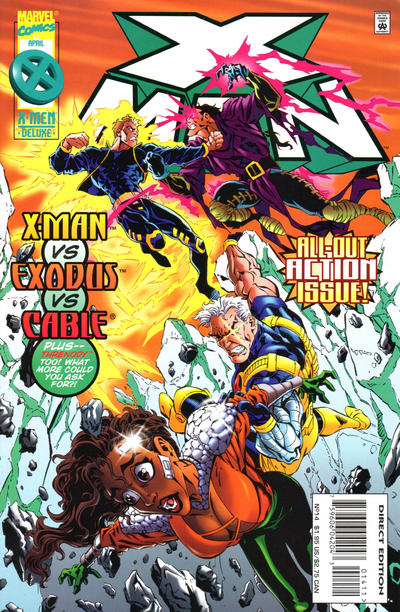 Cover for X-Man (Marvel, 1995 series) #14 [Newsstand]