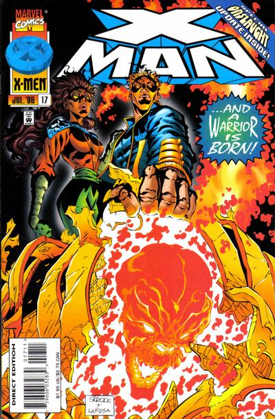 Cover for X-Man (Marvel, 1995 series) #17 [Direct Edition]