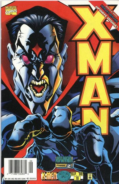 Cover for X-Man (Marvel, 1995 series) #19 [Newsstand Edition]
