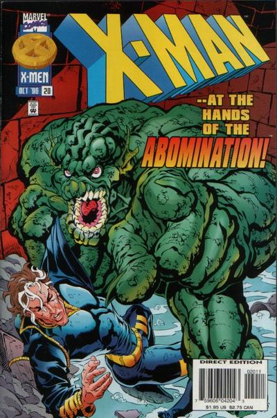 Cover for X-Man (Marvel, 1995 series) #20 [Direct Edition]