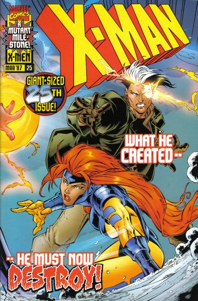 Cover for X-Man (Marvel, 1995 series) #25 [Direct Edition]