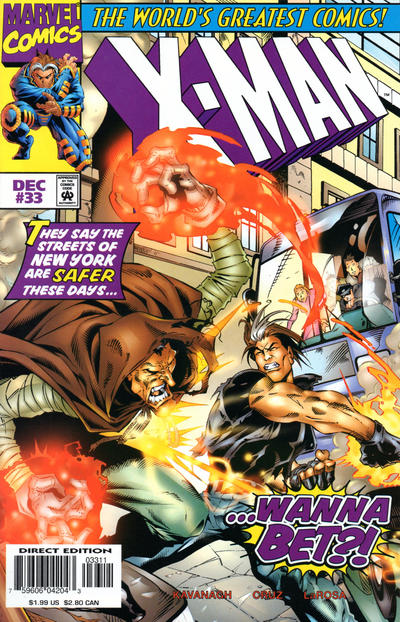 Cover for X-Man (Marvel, 1995 series) #33 [Direct Edition]