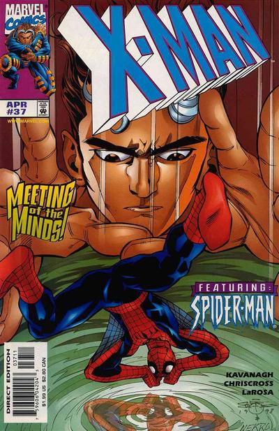 Cover for X-Man (Marvel, 1995 series) #37 [Direct Edition]