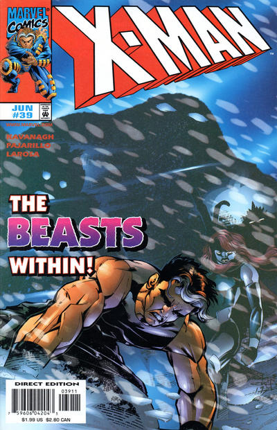 Cover for X-Man (Marvel, 1995 series) #39 [Direct Edition]