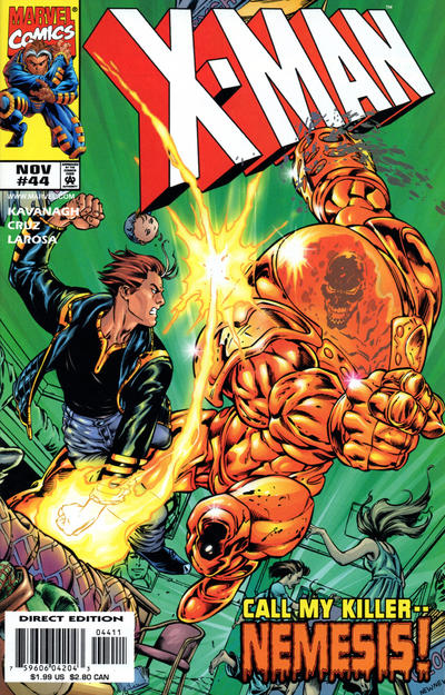 Cover for X-Man (Marvel, 1995 series) #44 [Direct Edition]
