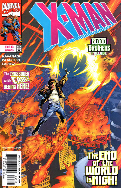 Cover for X-Man (Marvel, 1995 series) #45 [Direct Edition]