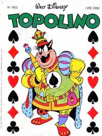 Cover Thumbnail for Topolino (The Walt Disney Company Italia, 1988 series) #1953