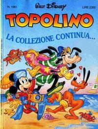 Cover Thumbnail for Topolino (The Walt Disney Company Italia, 1988 series) #1961
