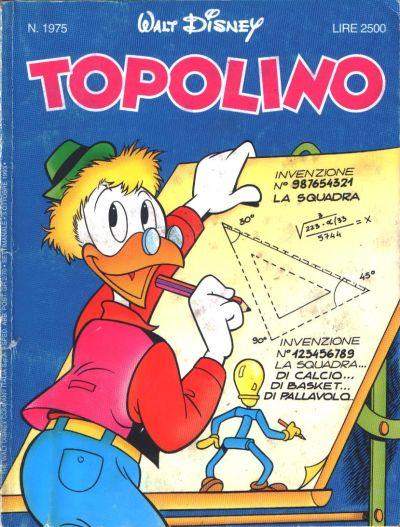 Cover for Topolino (The Walt Disney Company Italia, 1988 series) #1975