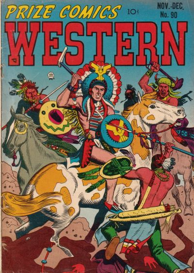 Cover for Prize Comics Western (Prize, 1948 series) #v10#5 (90)