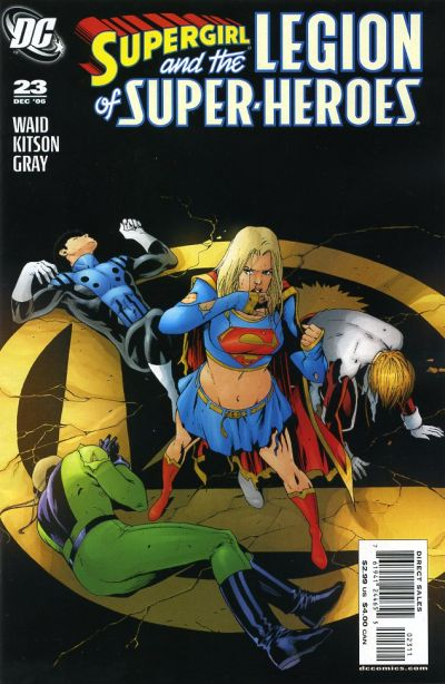 Cover for Supergirl and the Legion of Super-Heroes (DC, 2006 series) #23 [Adam Hughes Variant Cover]