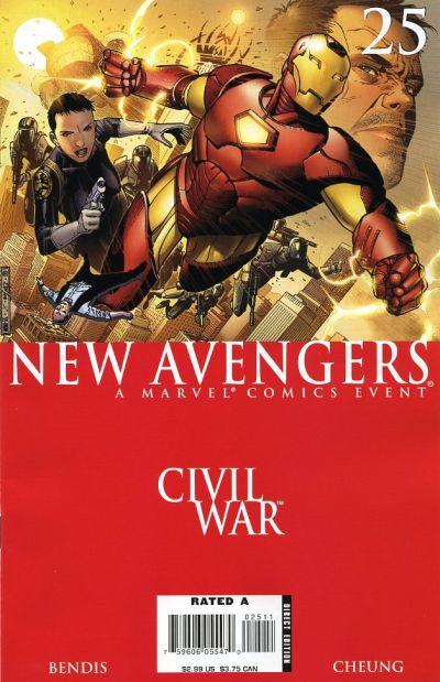 Cover for New Avengers (Marvel, 2005 series) #25