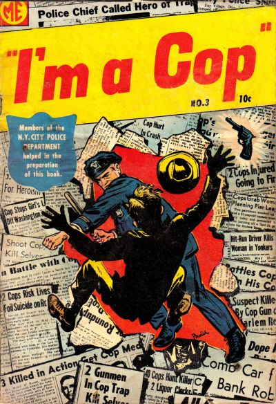 Cover for I'm a Cop (Magazine Enterprises, 1954 series) #3 [A-1 #128]