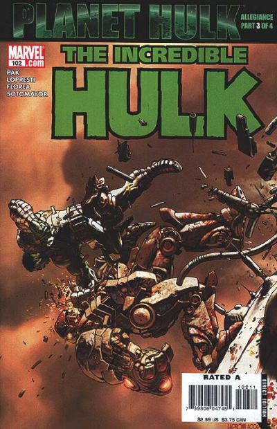 Cover for Incredible Hulk (Marvel, 2000 series) #102