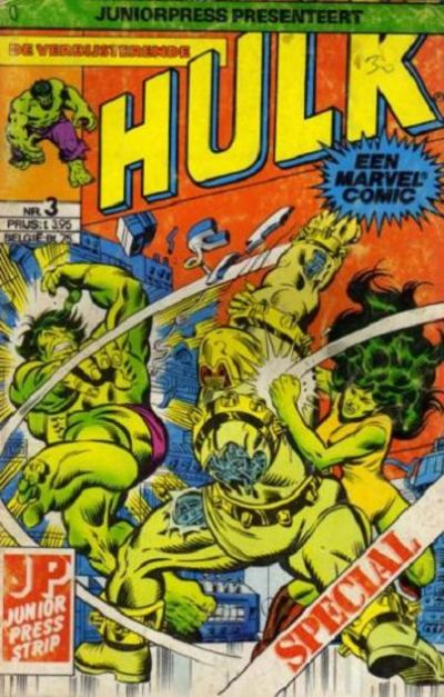 Cover for De verbijsterende Hulk Special (JuniorPress, 1983 series) #3