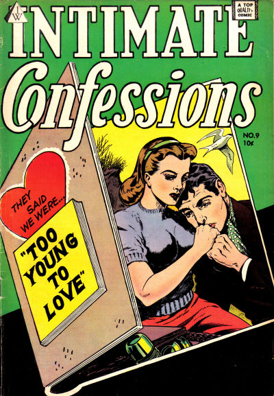 Cover for Intimate Confessions (I. W. Publishing; Super Comics, 1958 series) #9