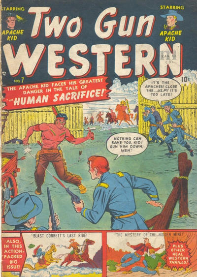 Cover for Two Gun Western (Bell Features, 1950 series) #7