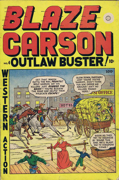Cover for Blaze Carson Comics (Superior Publishers Limited, 1948 series) #4