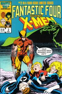 Cover Thumbnail for Fantastic Four vs. X-Men (Marvel, 1987 series) #2 [Direct Edition]