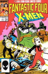 Cover Thumbnail for Fantastic Four vs. X-Men (Marvel, 1987 series) #3 [Direct Edition]