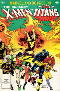 Cover Thumbnail for Marvel and DC Present Featuring The Uncanny X-Men and The New Teen Titans (Marvel, 1982 series) #1 [Direct]