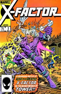 Cover Thumbnail for X-Factor (Marvel, 1986 series) #2 [Direct Edition]