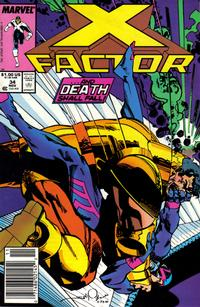 Cover Thumbnail for X-Factor (Marvel, 1986 series) #34 [Newsstand Edition]
