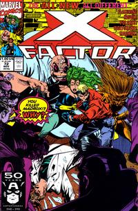 Cover Thumbnail for X-Factor (Marvel, 1986 series) #72 [Direct Edition]