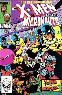Cover Thumbnail for The X-Men and the Micronauts (Marvel, 1984 series) #2 [Direct]
