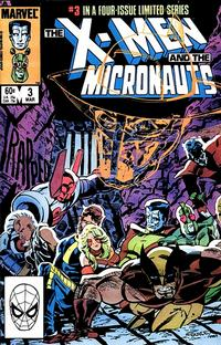 Cover Thumbnail for The X-Men and the Micronauts (Marvel, 1984 series) #3 [Direct Edition]