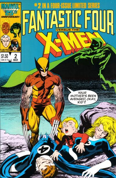 Cover for Fantastic Four vs. X-Men (Marvel, 1987 series) #2 [Direct Edition]