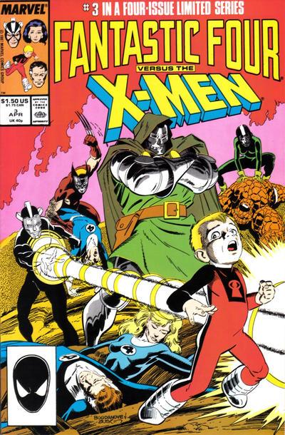 Cover for Fantastic Four vs. X-Men (Marvel, 1987 series) #3 [Direct Edition]