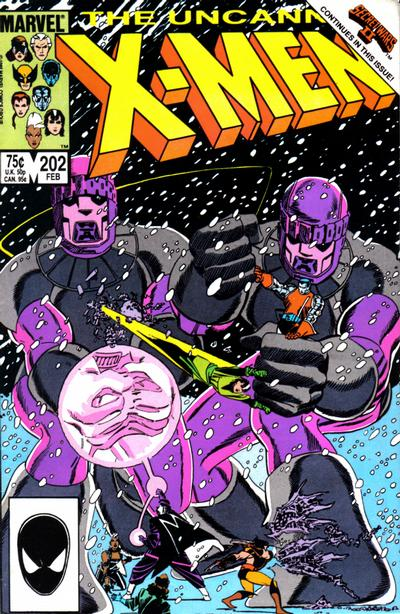 Cover for The Uncanny X-Men (Marvel, 1981 series) #202