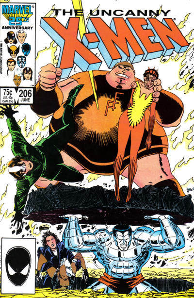 Cover for The Uncanny X-Men (Marvel, 1981 series) #206 [Direct]